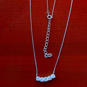Classic Silver Necklace with Cubic Zirconia jewels